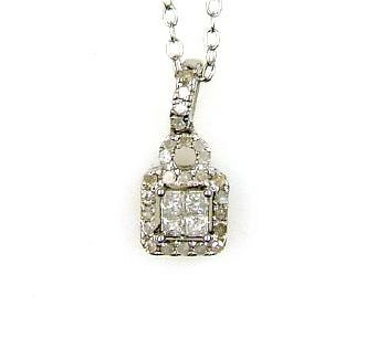 Natural .25ct Diamond Pendant Sterling Silver