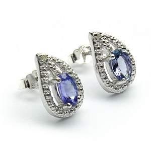 Exclusive Genuine Tanzanite Silver Earrings