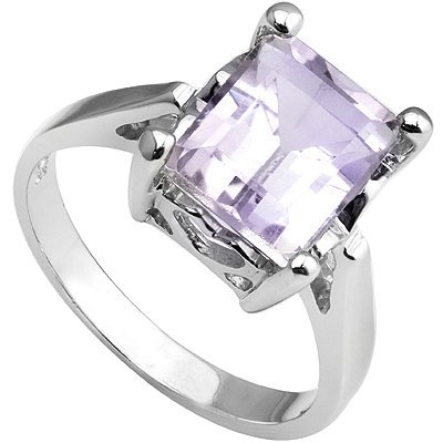 Splendid Pink Amethyst & Diamond Silver Ring