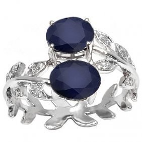 Beautiful Sapphire & Diamond in 10K Gold Ring