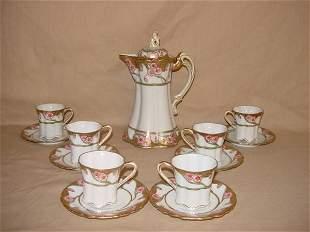 Nippon hand-painted tea set
