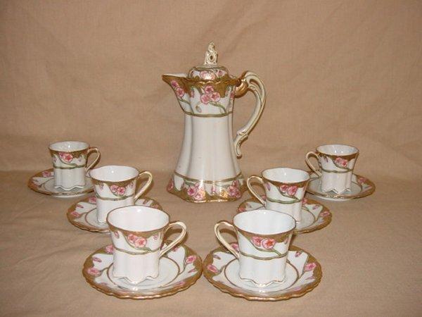 8005: Nippon hand-painted tea set
