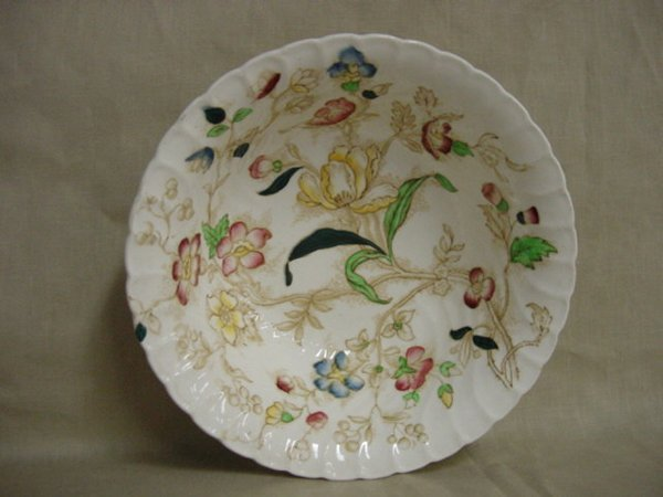 8015: Dorchester round bowl by Burgess & Leigh china