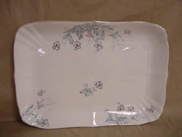 8017: Large serving platter by John Maddock & Sons