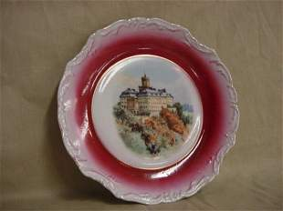 Hand painted castle plate by Three Crown Germany