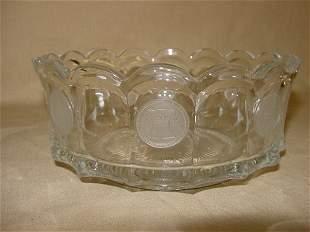 Fostoria Coin glass crystal bowl