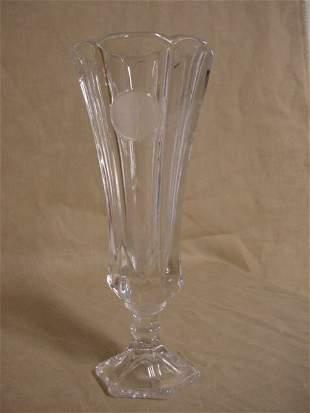 Fostoria Coin glass crystal vase