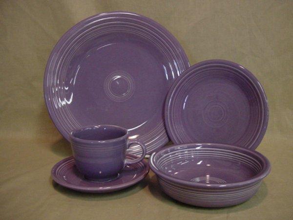 8199: New Fiesta lilac place setting, original box