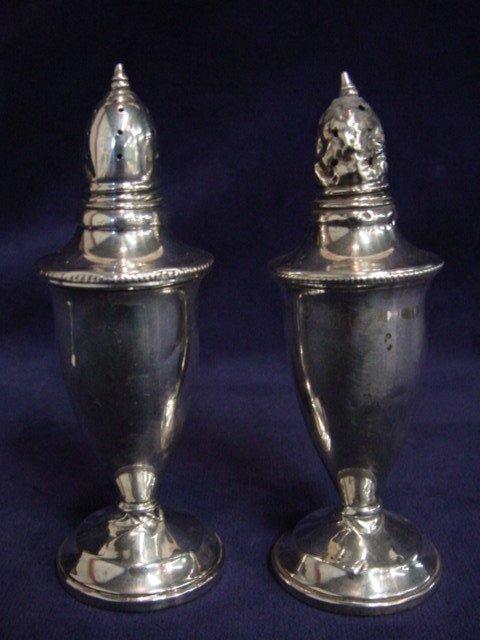 6112: Sterling tall salt & pepper