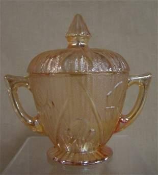 Iris depression iridescent sugar bowl