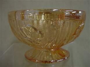Iris depression 5 iridescent cups & saucers