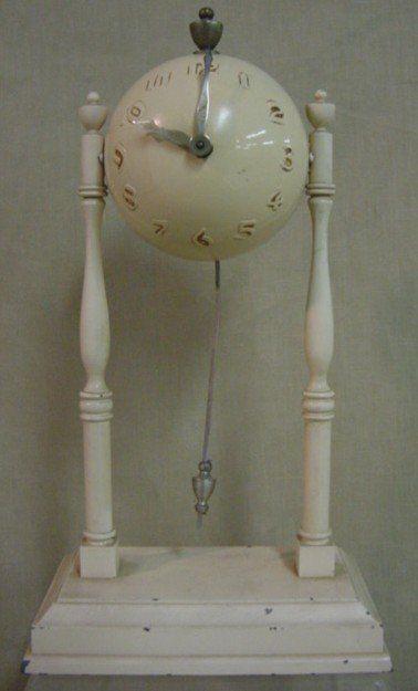 Globe clock, wind-up