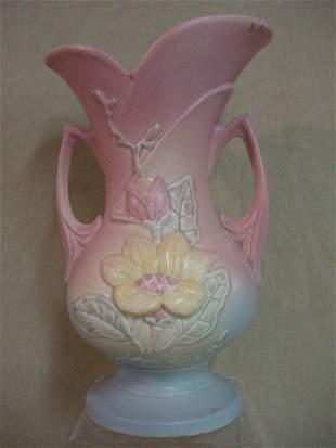 """Hull floral vase, signed """"8-10 1/2"""""""