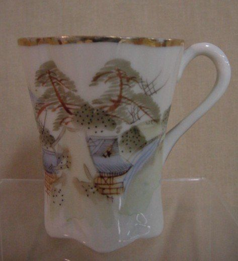 Set 5 Asian watercolor design cups