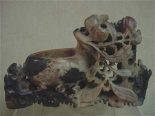 Carved soapstone centerpiece