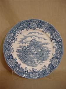 247: Salem China English Village 6 dinner plates