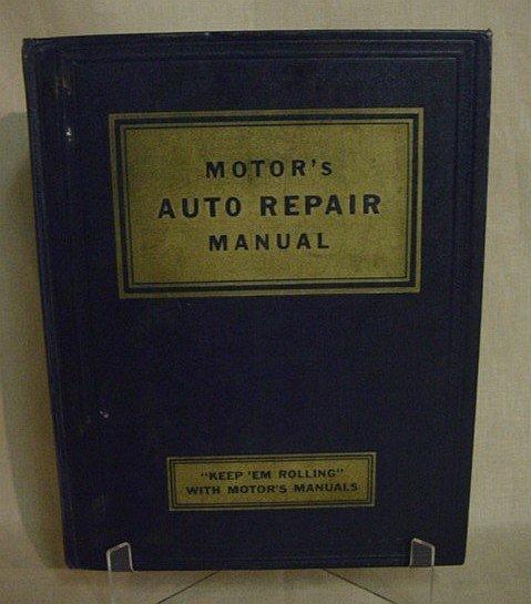 509: Motor's Auto Repair Manual, 1951