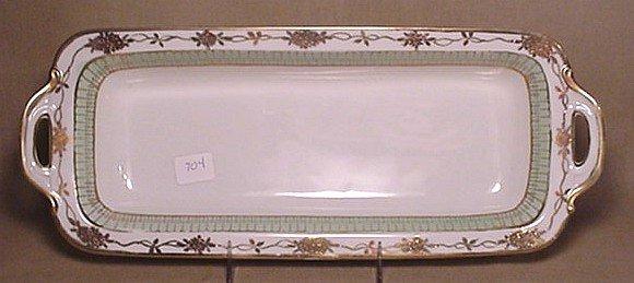 704: Nippon rectangular bowl handled