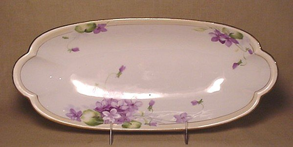 714: Hand Painted Nippon relish tray