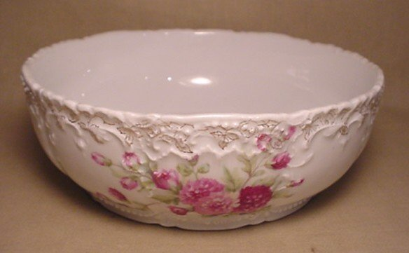 717: Weimar Germany floral Bowl