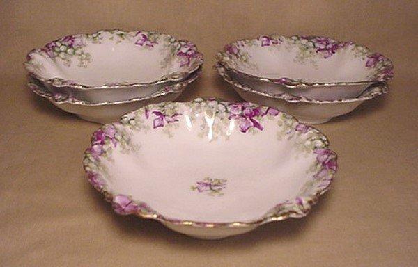 718: Set of five Germany J&C Malmaison bowls