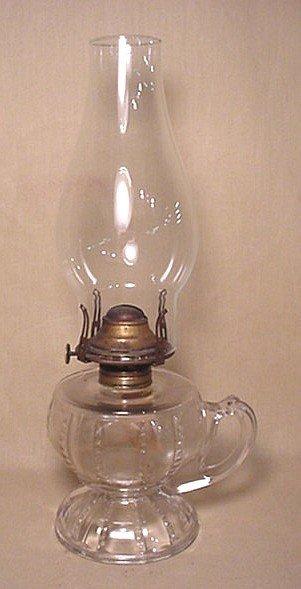 720: Clear kerosene finger lamp