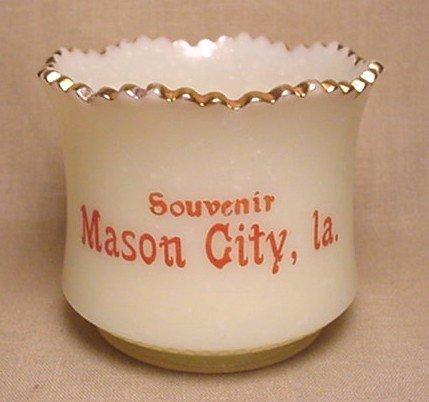 721: Custard Souvenir cup from Mason City Iowa
