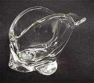 769: Cofrac Art Verrier France glass fish candy dish