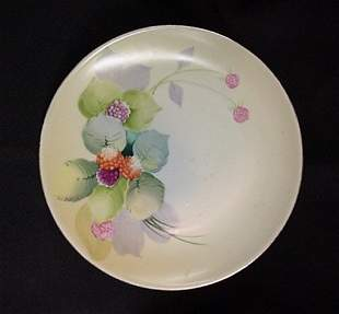 Hand Painted Nippon berry plate