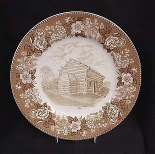 Alfred Meakin Nancy Lincoln In plate