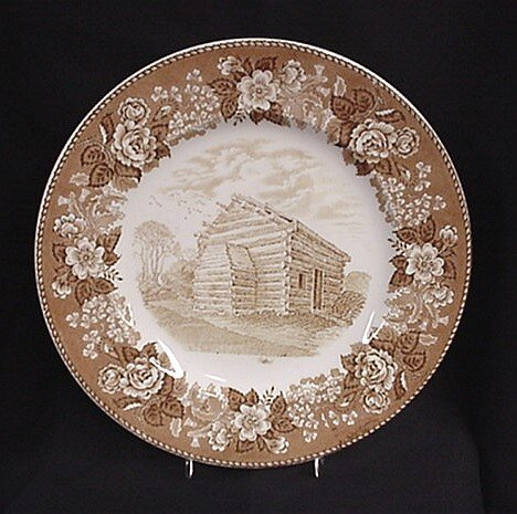1001: Alfred Meakin Nancy Lincoln In plate