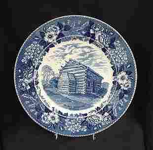 Adams Jonroth blue plate Nancy Lincoln In