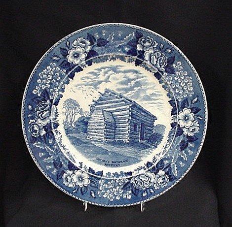 1002: Adams Jonroth blue plate Nancy Lincoln In