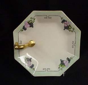 Limoges France handled lemon plate