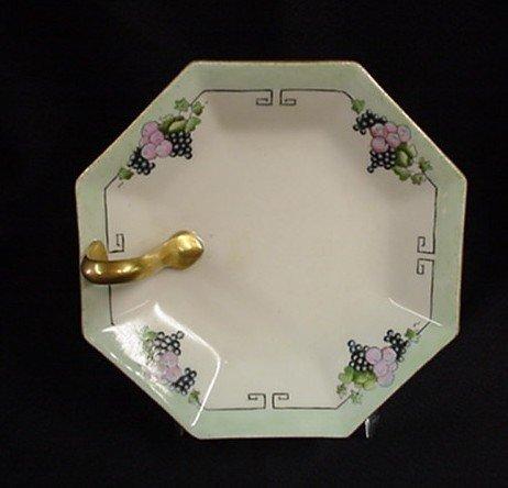 1003: Limoges France handled lemon plate