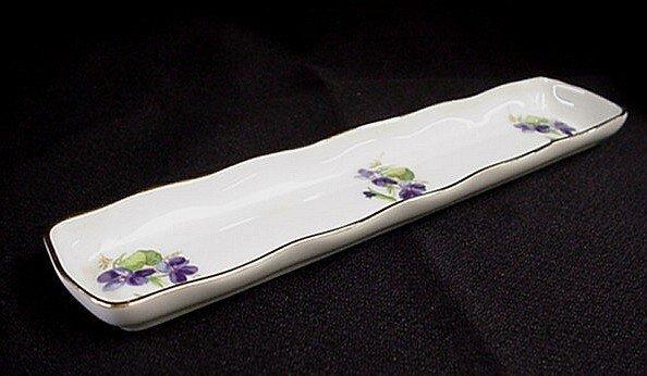 1004: Limoges France long pin dish