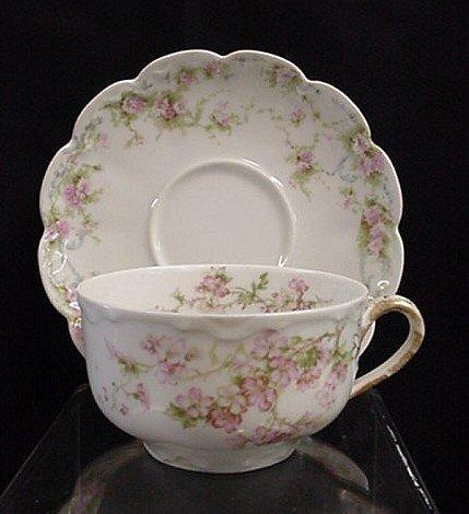 1014: Limoges Haviland cup and saucer set