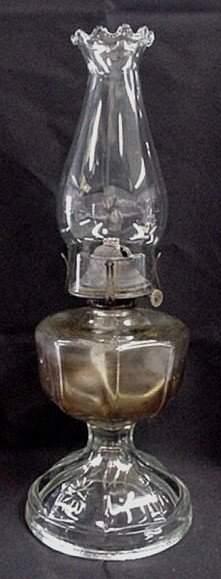 Antique kerosene lamp