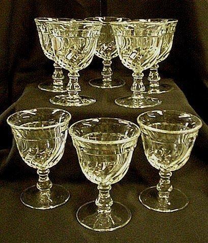 1018: Set of 8 Fostoria Colony goblets