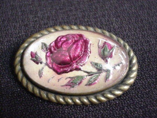 1510: Antique rose pin