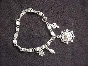 Charm bracelet with sterling charms