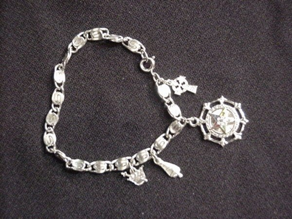 1514: Charm bracelet with sterling charms
