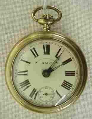 "Swiss ""AMC"" alarm pocket watch"