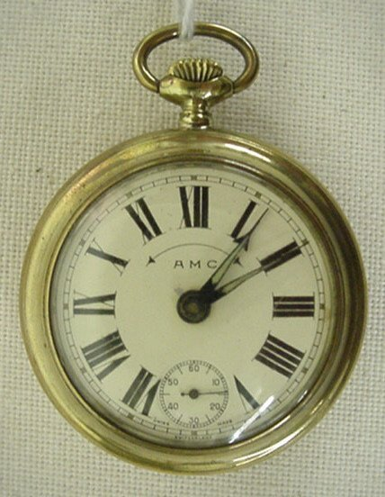 "3: Swiss ""AMC"" alarm pocket watch"