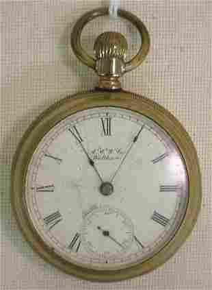 """Waltham """"A.W.W.Co"""" pocket watch"""