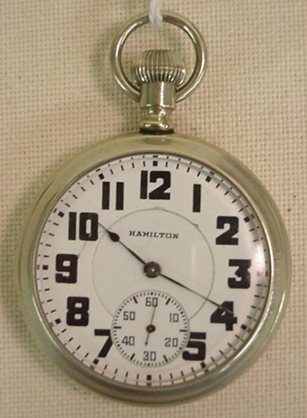 9: Hamilton model 972 pocket watch