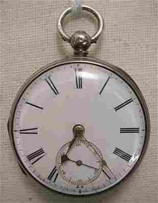 Pocket watch, key wind, unknown maker