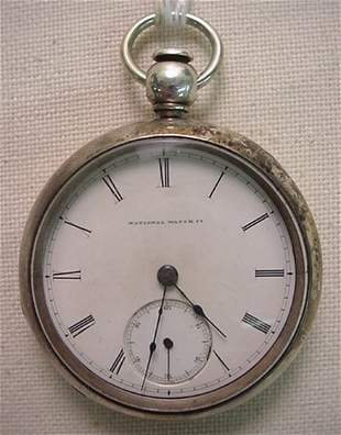 "Elgin National ""Mat Laflin"" key wind pocket watch"