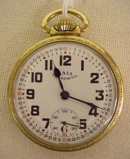 76: Ball Commercial pocket watch