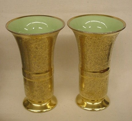 "2003: Pr. ""Pickard"" gold design vases"